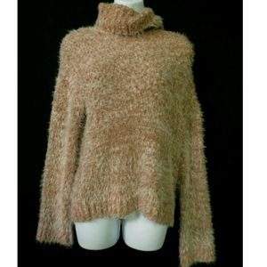 Abound NEW turtleneck pullover sweater Rust brown